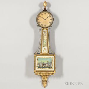 "Curtis & Dunning Patent Timepiece or ""Banjo"" Clock"