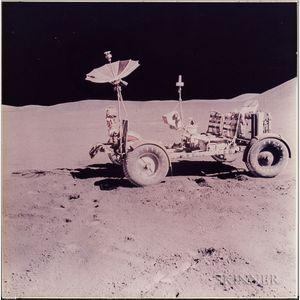Apollo 15, The Lunar Rover Photographed Alone Against the Desolate Lunar Landscape (NASA AS15-88-11901), July 31-August 2, 1971.