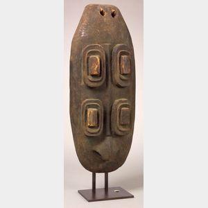 Large Melanesian Carved Wood Plate