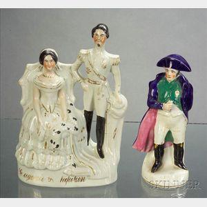 Two Staffordshire Napoleon Figures