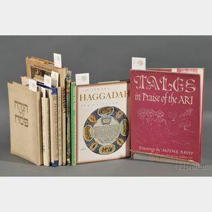 (Haggadah) Collection of Nine Illustrated Passover Haggadah