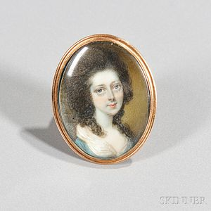 Attributed to Horace Hone (English, 1754-1825)      Portrait Miniature of a Young Woman.