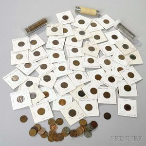 Group of Circulated Indian Head and Lincoln Cents