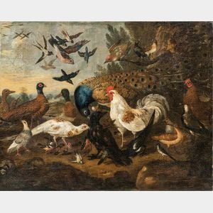 """After Pieter Casteels III (Flemish, 1684-1749)      """"A Fine Bird is More than Fine Feathers"""""""