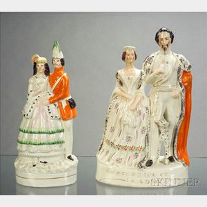 Two Staffordshire Royalty Figure Groups