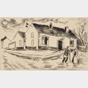 Maurice de Vlaminck (French, 1876-1958)      La Mairie