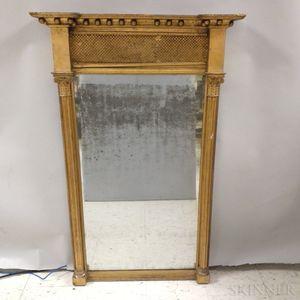 Federal Gilt-gesso Tabernacle Mirror