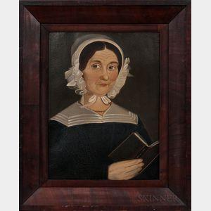 William Matthew Prior (Massachusetts/Maine, 1806-1873)      Portrait of a Woman, Reportedly a Teacher