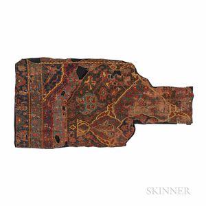 Five Ushak Medallion Carpet Fragments