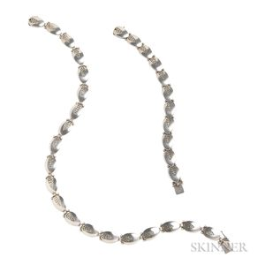 Sterling Silver Necklace and Bracelet, Georg Jensen