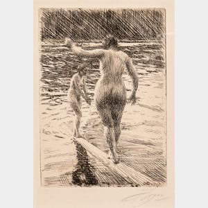 Anders Zorn (Swedish, 1860-1920)      Balance