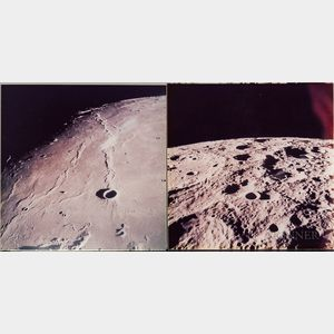 Apollo 15, NASA Views of the Lunar Surface, August 1971, Three Photographs.