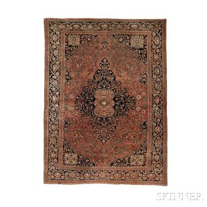 Antique Fereghan Sarouk Carpet