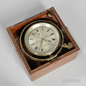 John Poole Eight-day Marine Chronometer and Records