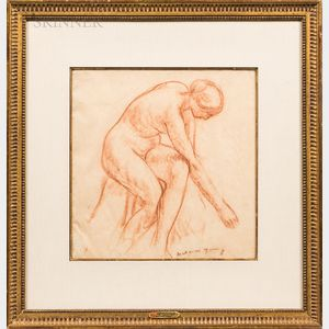Mahonri Mackintosh Young (American, 1877-1957)      Seated Nude