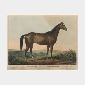 Nathaniel Currier, publisher (American, 1813-1888) THE CELEBRATED HORSE LEXINGTON (5 YRS. OLD) BY BOSTON OUT OF ALICE CARNEAL. 1855,