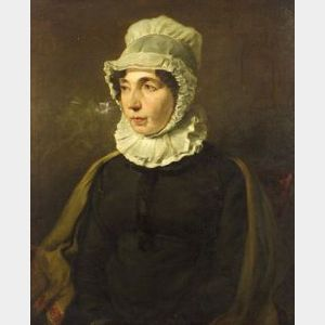 Attributed to William Simson (British, 1800-1847)  Portrait of Mrs. Simson, the Artist's Mother