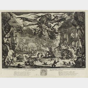 Jacques Callot (French, 1592-1635)  The Temptation of Saint Anthony