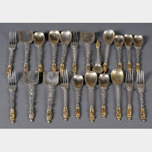 Assembled Group of Chinese Export Flatware