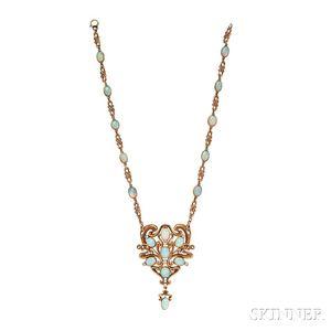 Art Nouveau Opal Necklace, Marcus & Co.
