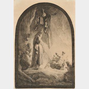 Rembrandt van Rijn (Dutch, 1606-1669)      The Raising of Lazarus:  The Larger Plate