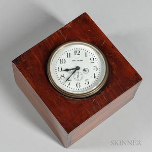 Box-mounted Waltham Eight-day Car Clock