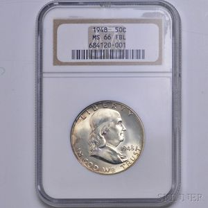 1948 Franklin Half Dollar, NGC MS66.