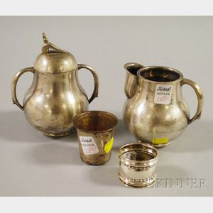 Fabian Mexican Sterling Silver Pear-shaped Creamer and Lidded Sugar