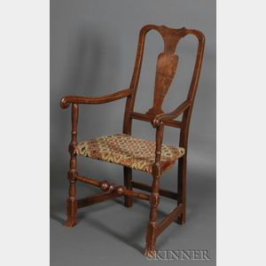 Queen Anne Maple Armchair