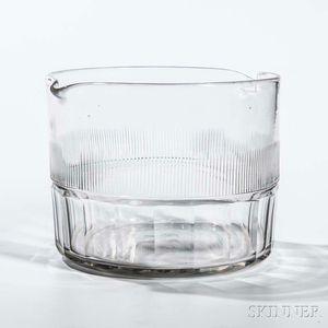 Colorless Cut Glass Wine Rinser