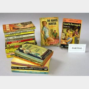 Thirty-nine Mid-20th Century Pulp Novels