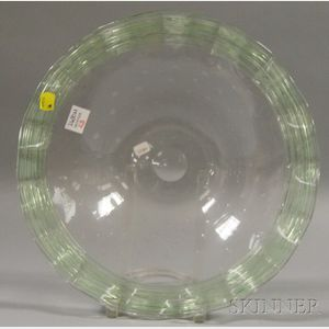 Steuben Pale Green Art Glass Center Bowl