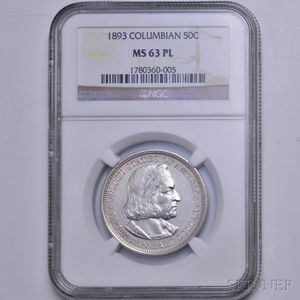 1893 Columbian Commemorative Half Dollar, NGC MS63 Prooflike