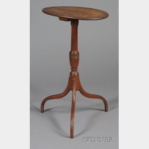 Federal Red-stained Birch Candlestand
