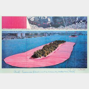 Christo (American, b. 1935) and Jeanne-Claude (French, 1935-2009) Christo: Surrounded Island (Project for Biscayne Bay, Greater Miami,