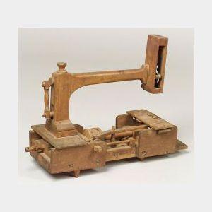 Wood Sewing Machine Model