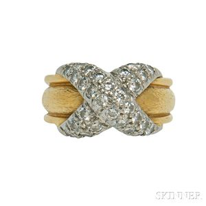 Platinum, 18kt Gold, and Diamond Ring, Schlumberger for Tiffany & Co.