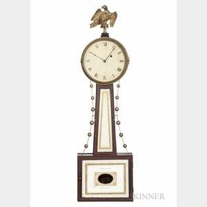 "Simon Willard Patent Timepiece or ""Banjo"" Clock with Signed ""Willard & Nolen"" Lower Tablet"
