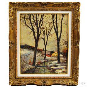 Aldro Thompson Hibbard (American, 1886-1972)    Winter Day, VT