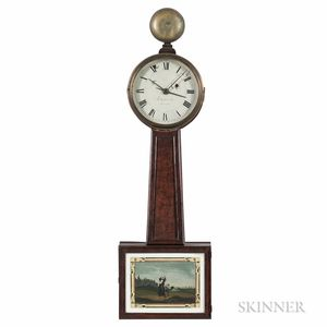"Aaron Willard Jr. Patent or ""Banjo"" Alarm Clock"