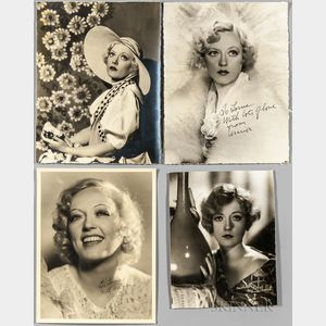 Davies, Marion (1897-1961) Group of Photographs, Two Signed.
