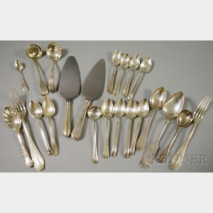 Twenty-two Assorted Mostly Sterling Silver Flatware Items