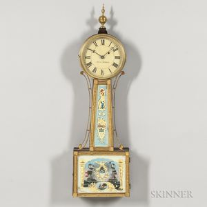 "New England Gilt-front ""Banjo"" Timepiece"
