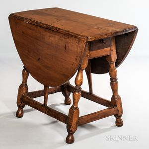 Maple Oval Drop-leaf Table with Falling Leaves