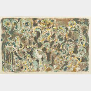 Pierre Alechinsky (Belgian, b. 1927)    Untitled.