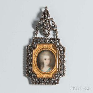 Antique Diamond Mourning Pendant