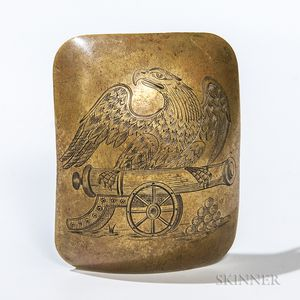 Engraved Artillery Belt Plate