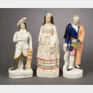 Three Staffordshire Character Figures