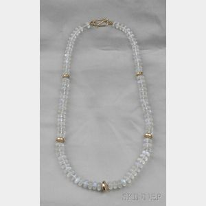18kt Rose Gold and Moonstone Necklace