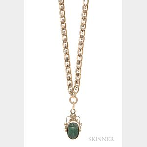 14kt Gold Watch Fob and Chain